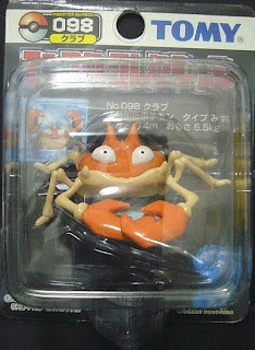 Krabby Pokemon figure Tomy Monster Collection black package series
