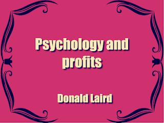 Psychology and profits