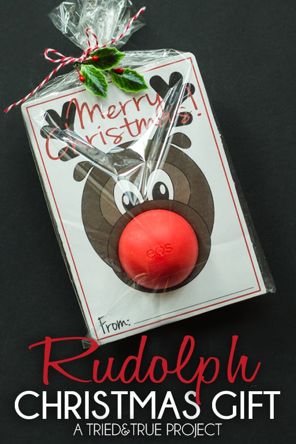 Eos Rudolph Christmas gift printable