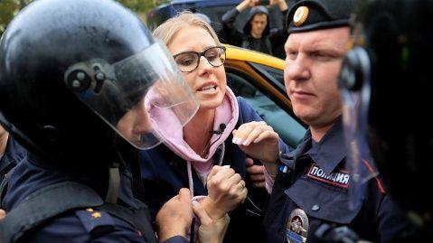 Cientos de detenidos en Moscú por manifestación no autorizada