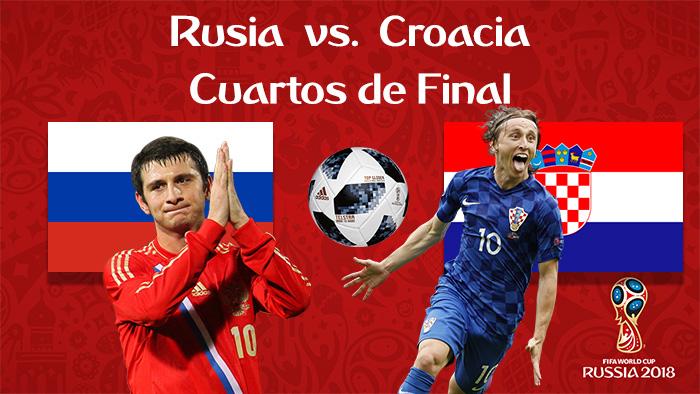 Rusia vs. Croacia - En Vivo - Online - Cuartos de Final - Rusia 2018