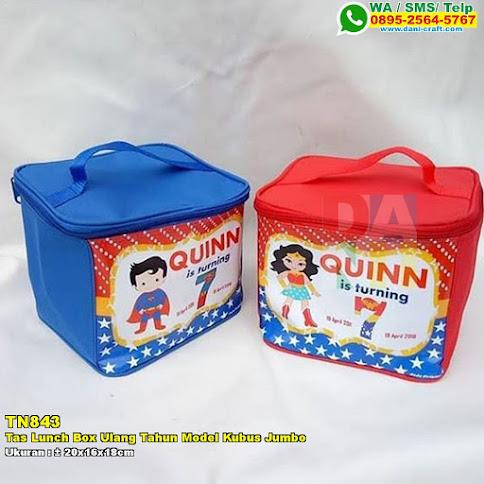Tas Lunch Box Ulang Tahun Model Kubus Jumbo