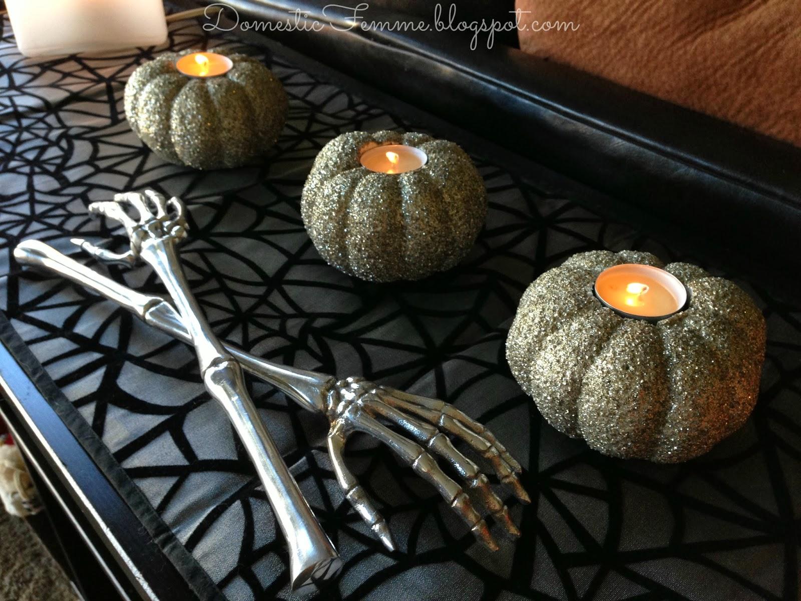 domestic femme easy diy halloween crafts. Black Bedroom Furniture Sets. Home Design Ideas