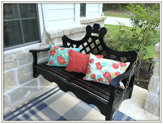 DIY-Farmhouse Porch Pillows-Pioneer Woman Placemats-From My Front Porch To Yours