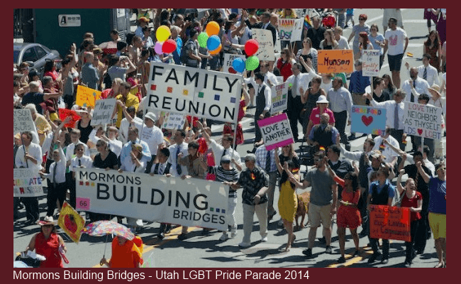 Mormons Building Bridges in the Utah LGBT Gay Pride Parade 2014
