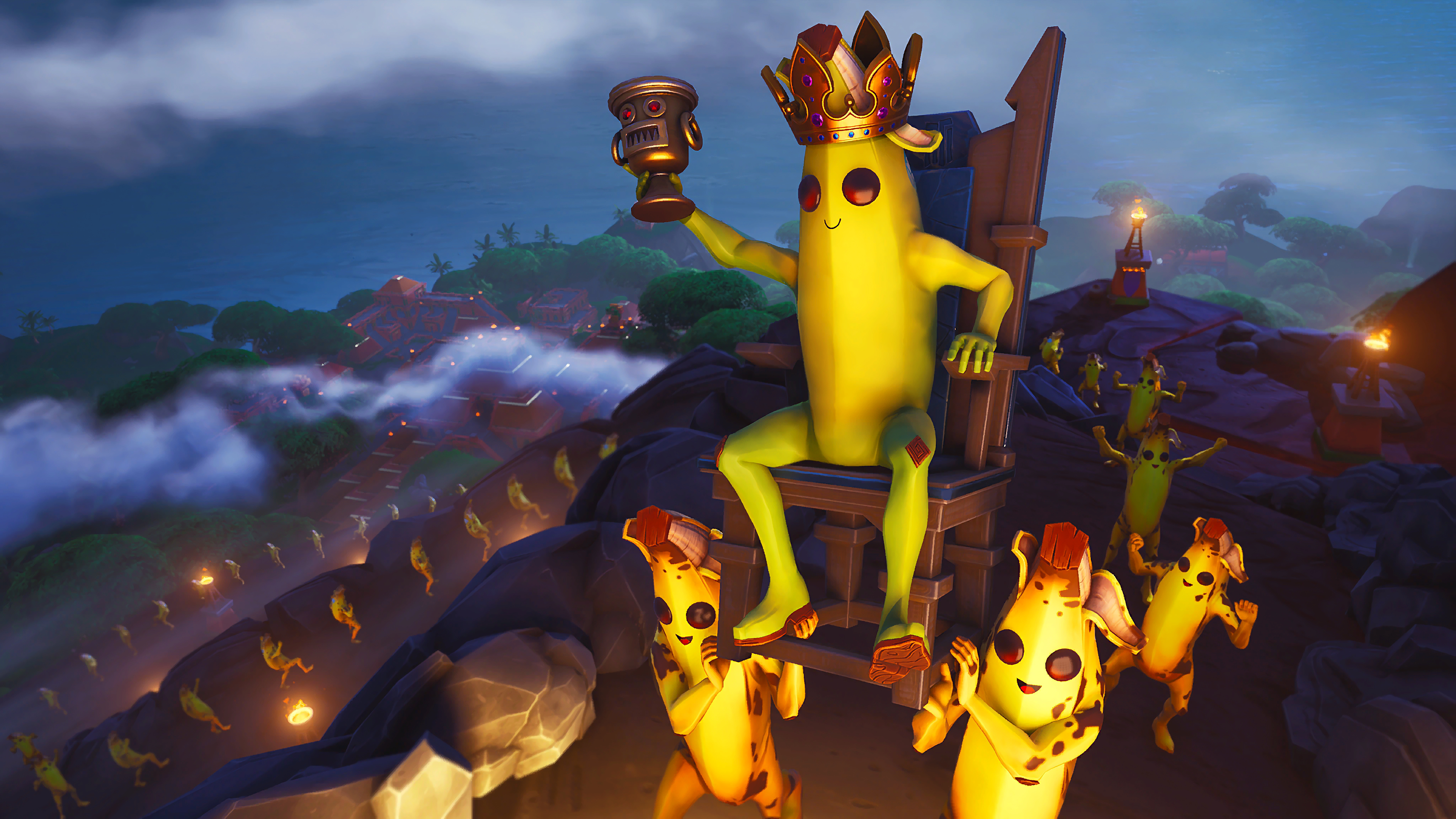 Fortnite Battle Royale Peely The Banana King 4k Wallpaper 135