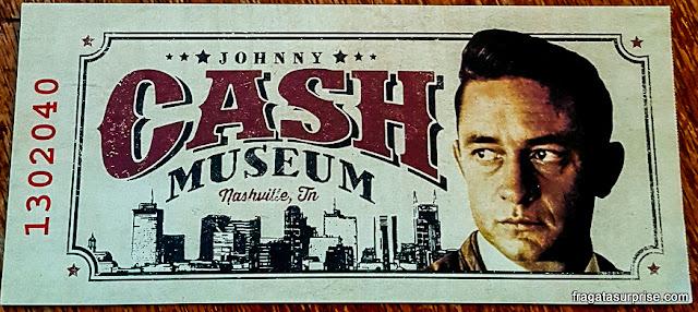 Ingresso para o Museu Johnny Cash, Nashville, EUA