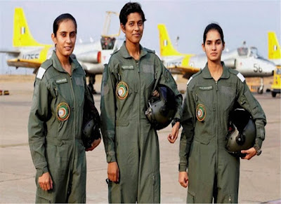 India's first three women fighter pilots commissioned