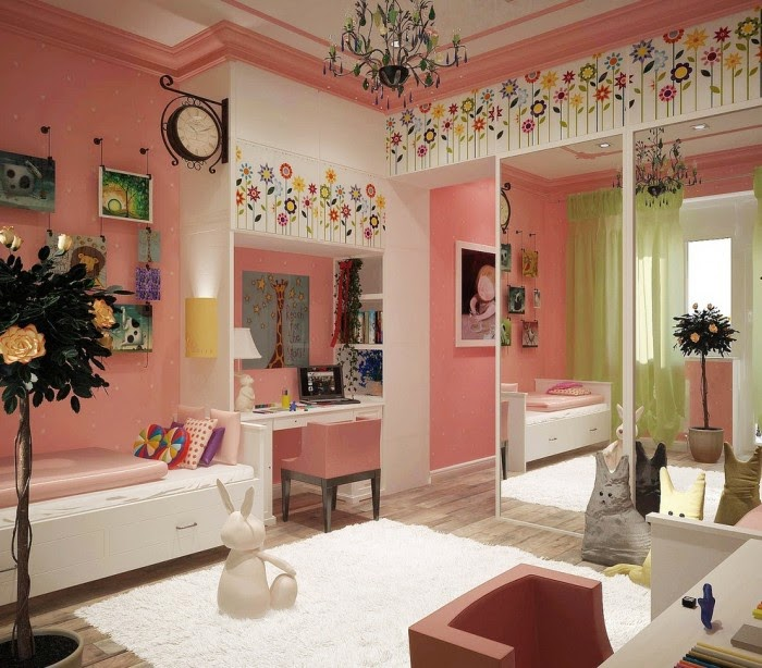 Lindos dormitorios para ni as color rosa colores en casa for Cuarto de nina rosa palido