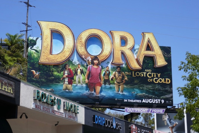 Dora and the Lost City of Gold 3D logo billboard