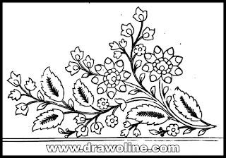 simple saree border design drawing/saree design drawing images