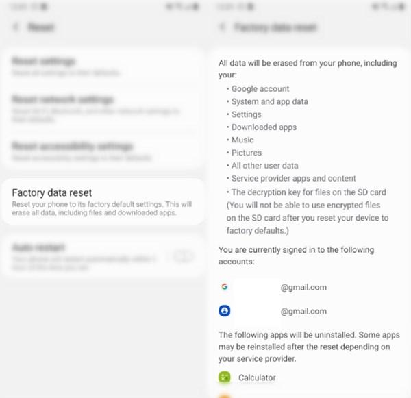 read factory data reset