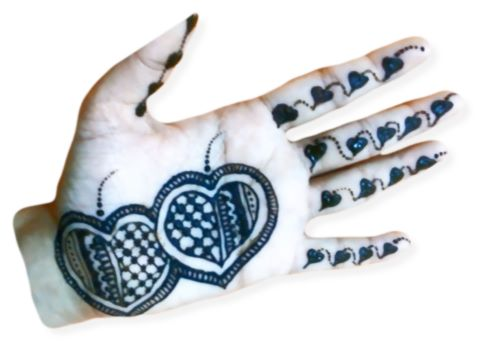 Two Hearts Mehndi