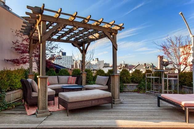 pergola de madera para terraza urbana