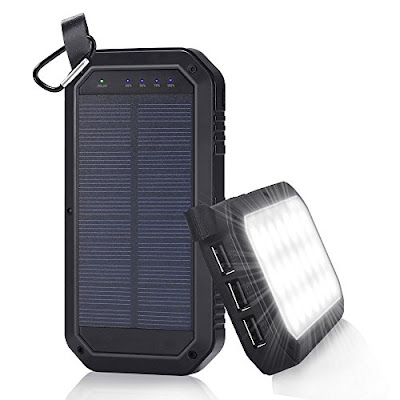 Beswill Solar Power Bank - 8000mAh Phone Battery Charger with LED Lights - Electronics