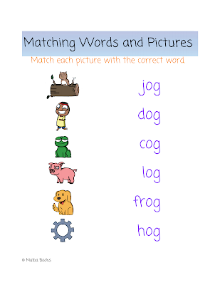 What's an Og? by Mary Barry Matching Worksheet
