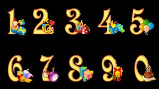 numeros para pintar del 0 al 9