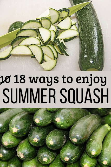 Have zucchini and summer squash coming out your ears, and the neighbors are hiding from you because they're tired of it too? Here are 18 ways to use it or preserve it.
