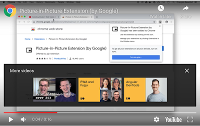 Picture-in-Picture Extension Allows You To Watch Videos on a Floating Window as You Work on Other Sites