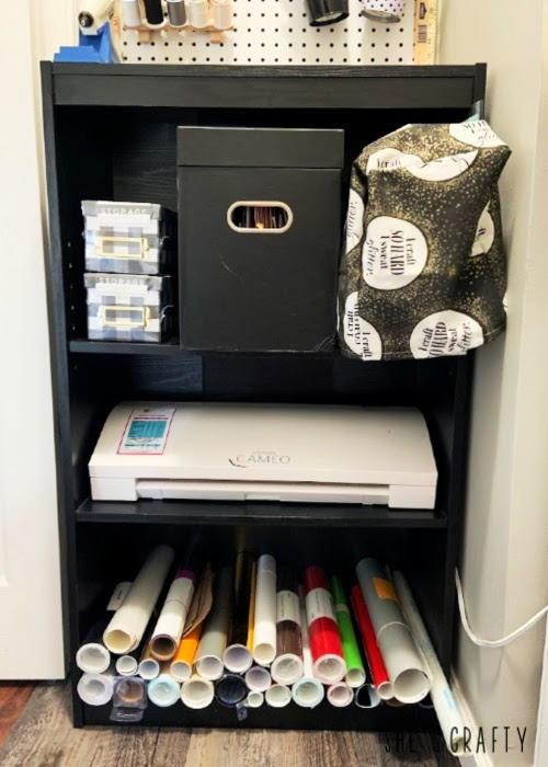 How to hide cords in a small craft room