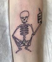 тату скелет по эскизу гостя