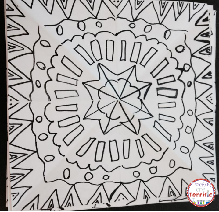 ART OR STEAM: Here's a kaleidoscope in the midst of being drawn! More on my blog!