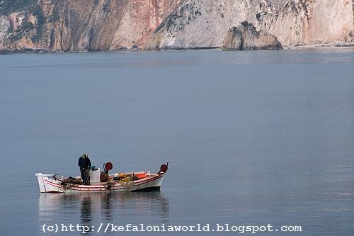 Fishing near White Rocks, Kefalonia