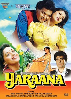 Yaraana 1995 Hindi 720p DVDRip 1.2GB