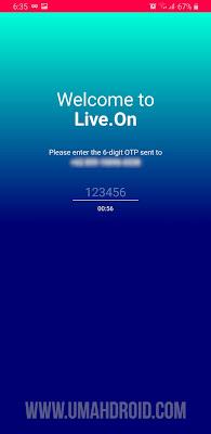 Login Ke Aplikasi Live.On