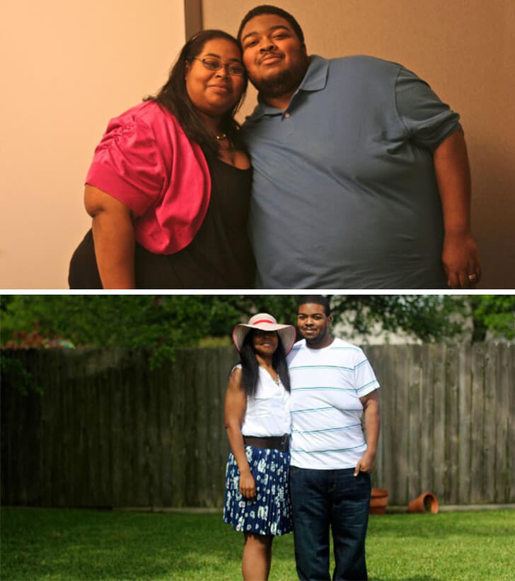 18 Inspiring Before And After Pictures Of Couples Who Decided To Change Their Habits Together