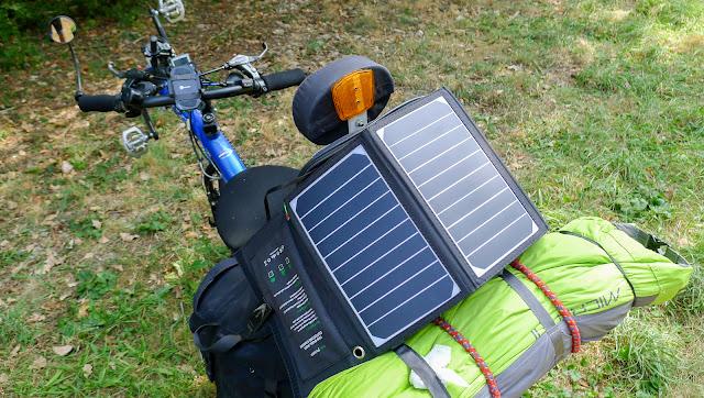 De Paris à Narbonne en vélo, Panneaux solaires