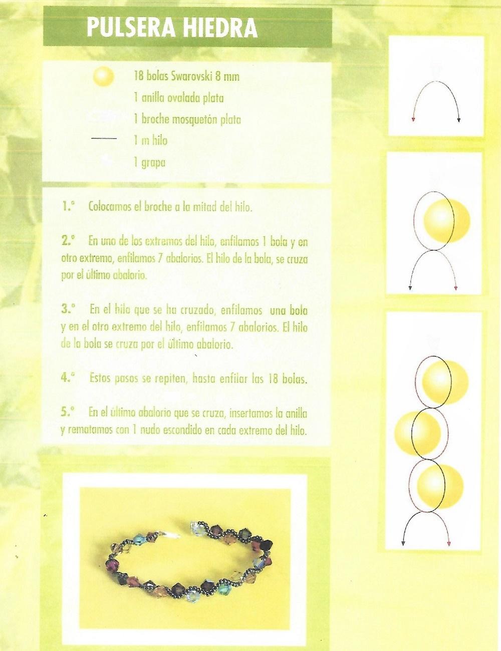 pulseras, brazaletes, abalorios, tutoriales, bisuteria