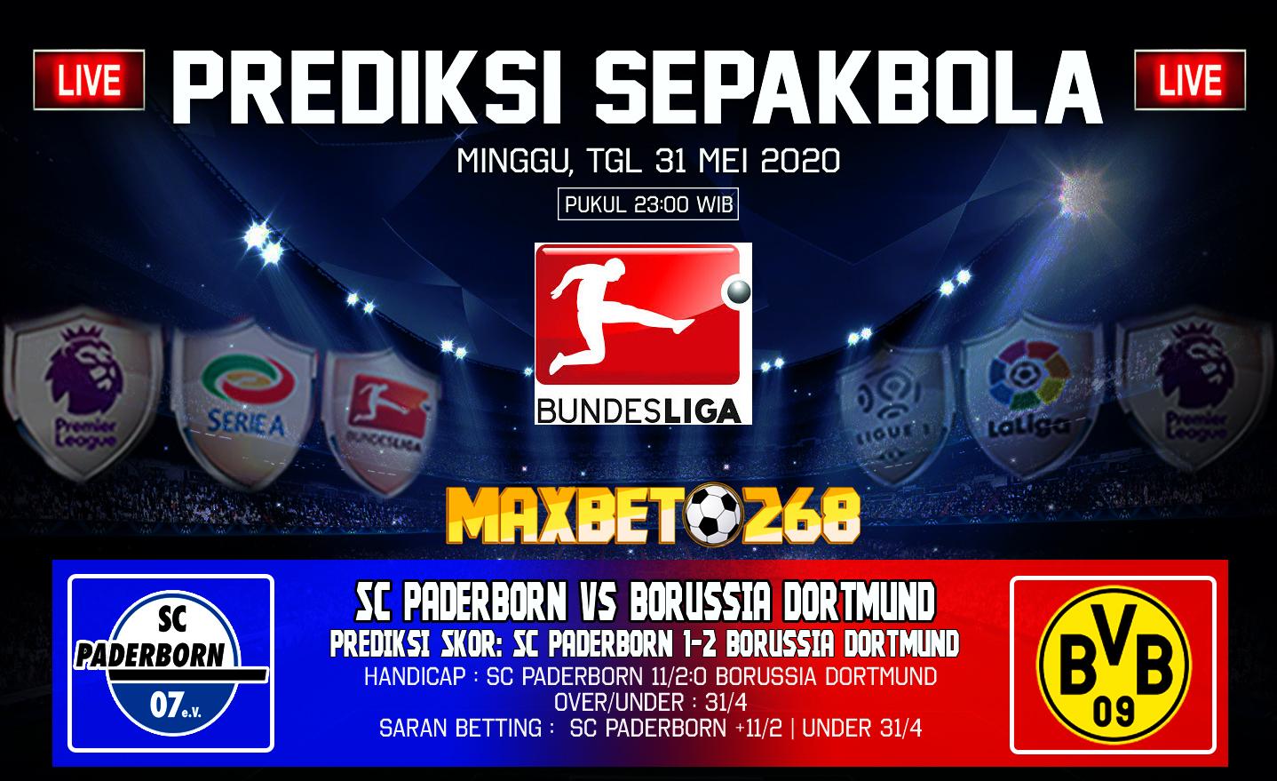 Prediksi Bola SC Paderborn Vs Borussia Dortmund 31 Mei 2020 Pukul 23.00 WIB