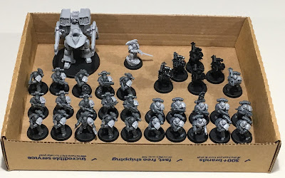 Horus Heresy First Legion Dark Angels WIP assembled