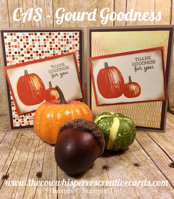 Gourd Goodness, Fall Card, Pumpkin, Autumn, Stampin Up