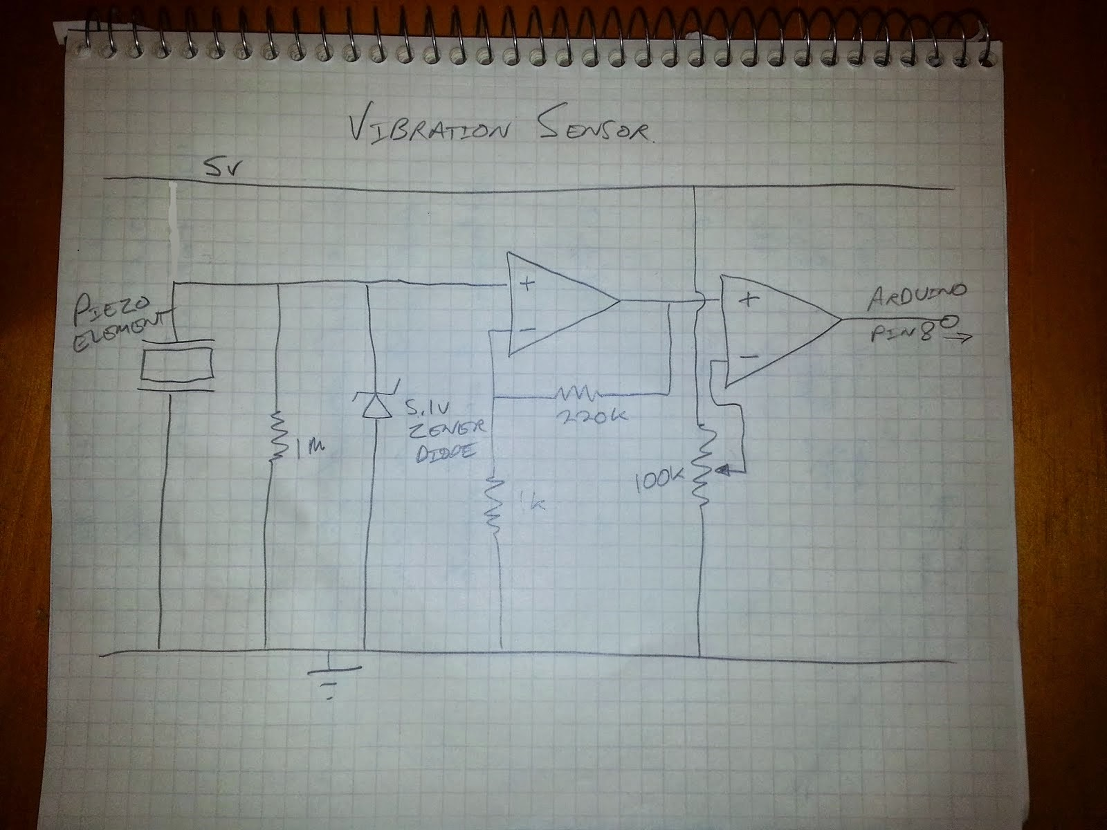 Ultra Sensitive Vibration Sensor Circuit Diagram