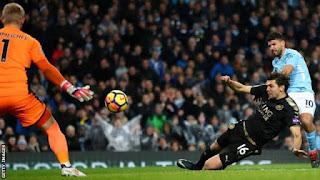 Gbam !!! Sergio Aguero Scores 4 Goals As Manchester City Destroy Leicester City