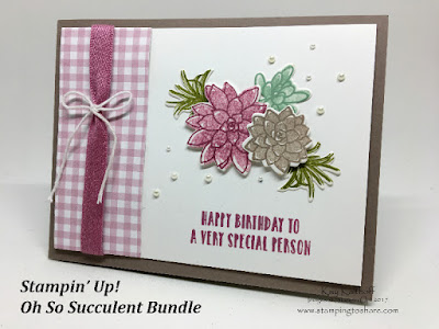 Stampin' Up! Oh So Succulent Bundle, Stamping to Share