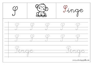 Apprendre a écrire alphabet francais A imprimer
