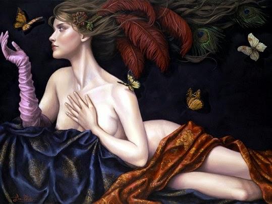Madama Butterfly - Lauri Blank e suas pinturas cheias de emoções