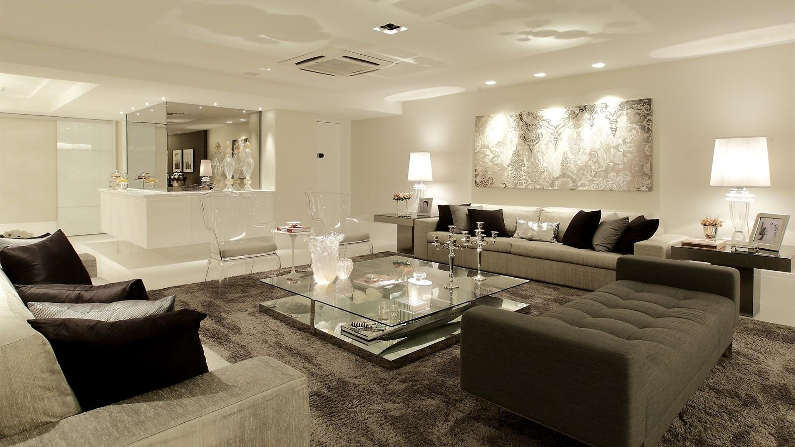 Construindo minha casa clean consultoria da leitora sala - Sala de estar ...
