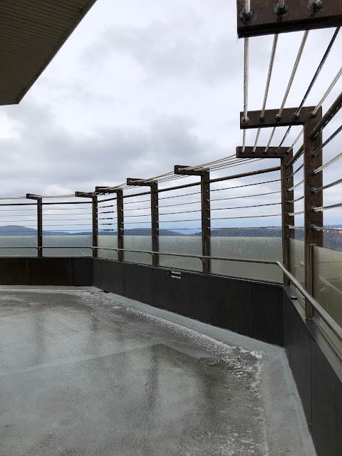 outdoor deck of an observation tower