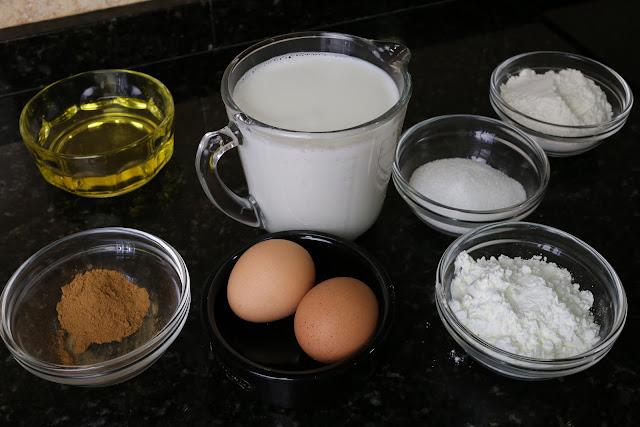 Ingredientes para leche frita casera