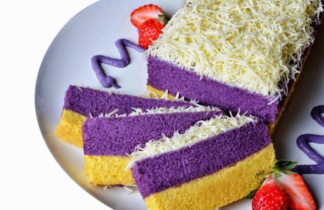 Resep cake lapis talas