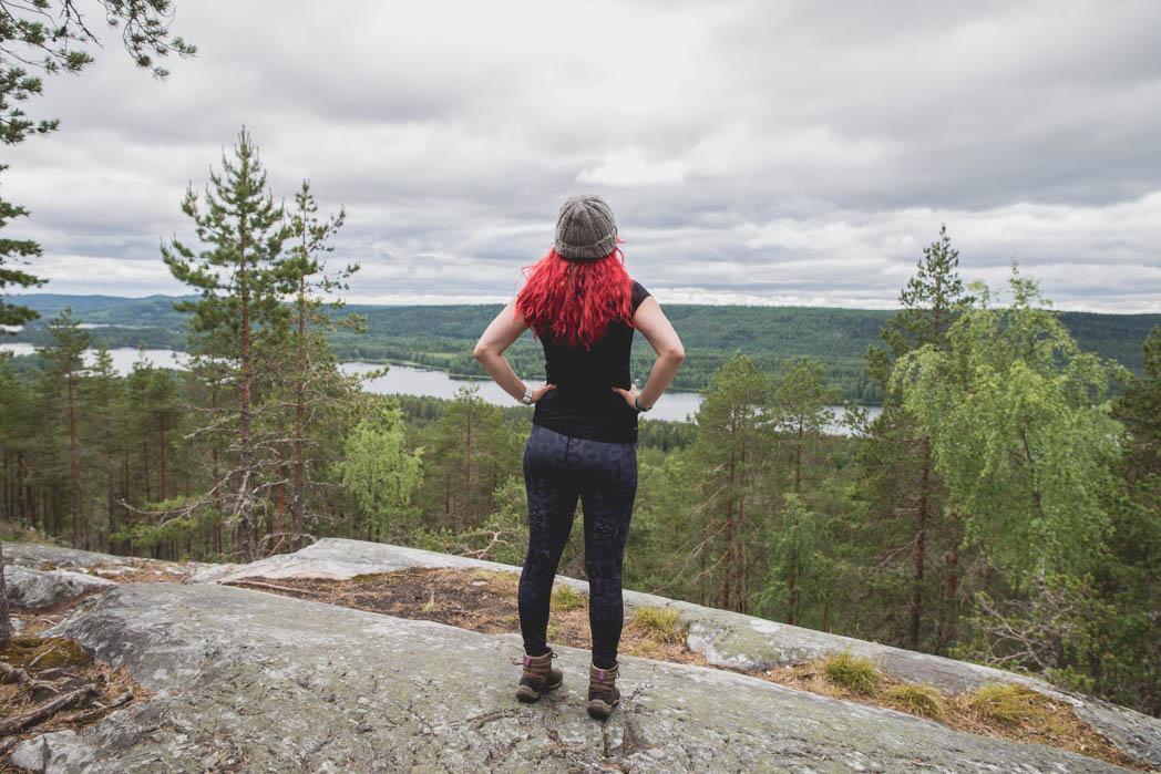 Nyt on nättiä! Kolin kansallispuisto ei suotta nöyristele maisemien suhteen, vaan tätä riitti koko matkan ajan.