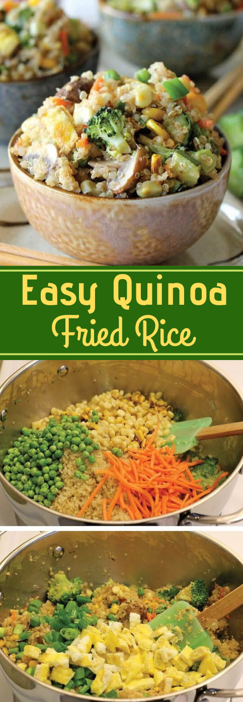 """QUINOA VEGGIE """"FRIED RICE"""" #dinner #rice #noodle #healthyfood #recipes"""