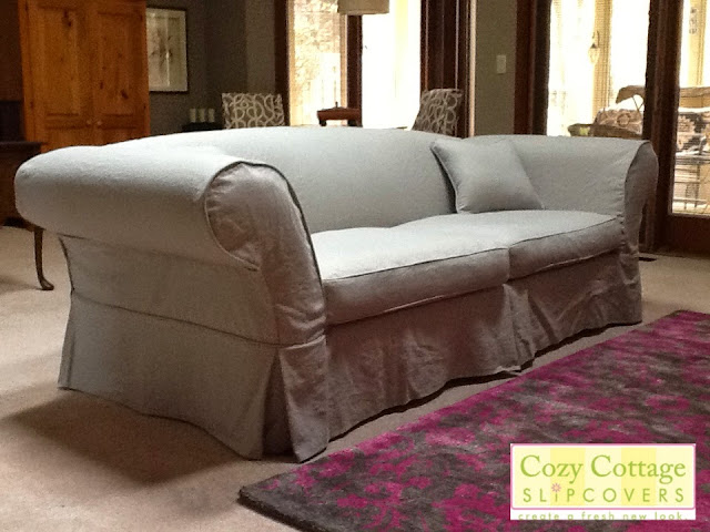 Cozy Cottage Slipcovers: Linen Sofa Slipcover
