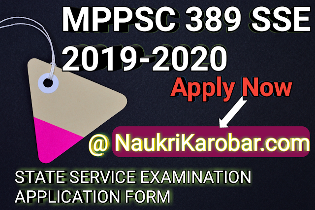 MPPSC SSE 2019-2020 POST- 389 State Service Examination Application Form