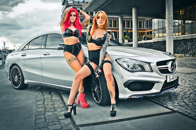 Mercedes Benz CLA45 AMG và hai người đẹp cá tính 02