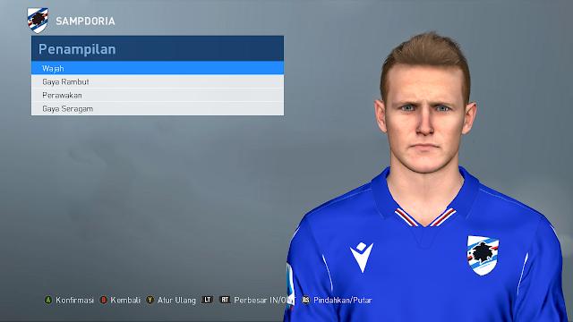PES 2017 Jakub Jankto ( U.C. Sampdoria ) face by Ghea Facemaker